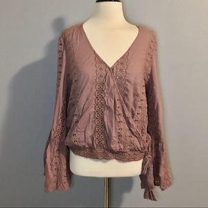 American Eagle Outfitters Boho Top Sz L Rose